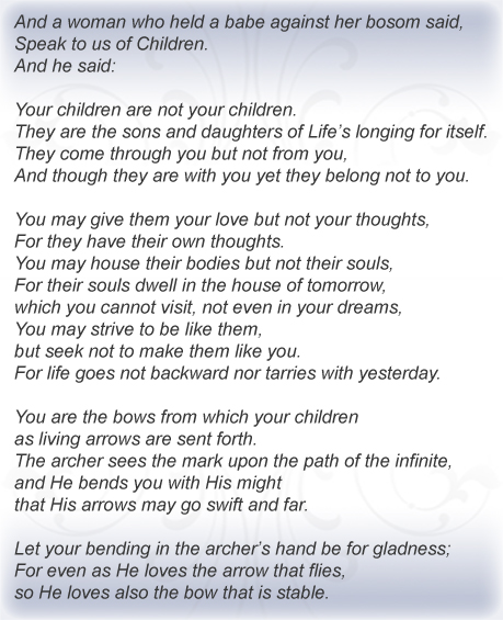 khalil gibran poems